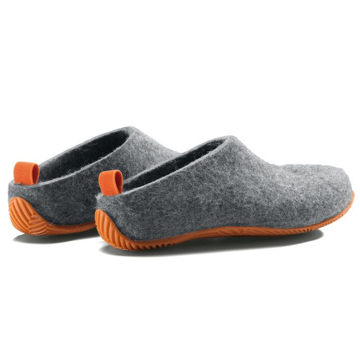 MAGAZIN: Schuhe Lahtiset, Schwarz Orange | Filzschuhe