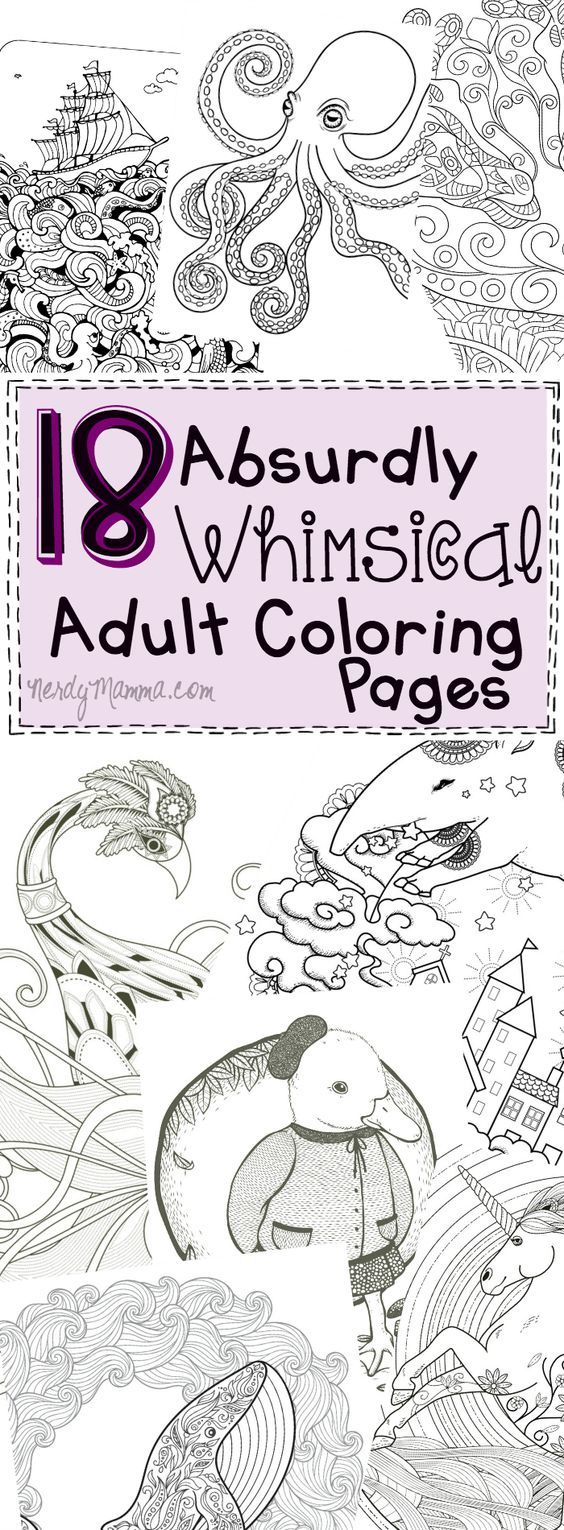 These 18 absurdly whimsical adult coloring pages i just cant even