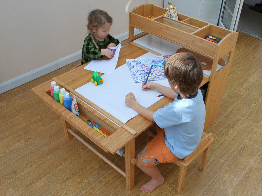 Childrenu0027s Arts And Crafts Table And Chairs | Brilliant, Clutter Free  Solution For Young
