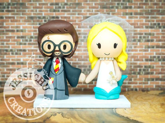 Harry Potter Amp Mermaid Wedding Cake Topper
