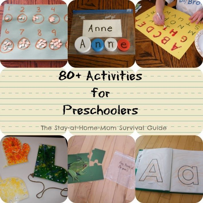 Preschool Activities Preschool Activities Survival Guide And