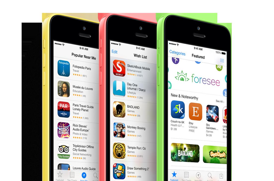 Apple iPhone 5c The app store Apple iphone 5c