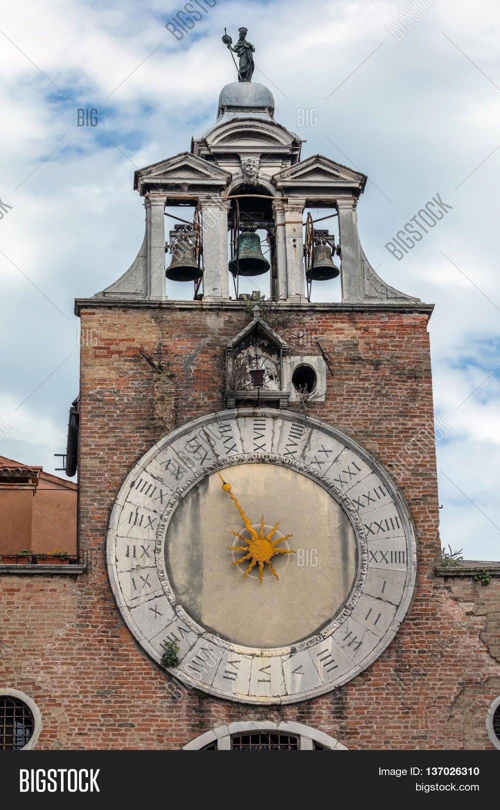 Belfry Of The Church San Giacomo Di Rialto In Venice, Italy