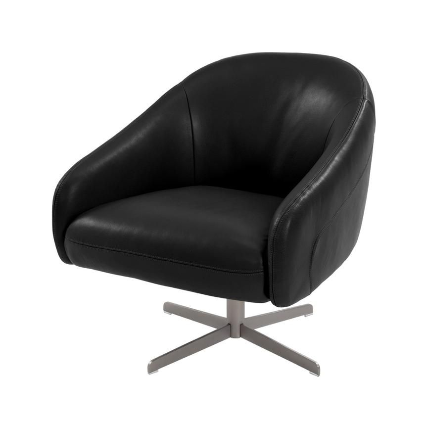 Astounding Brookville Black Leather Swivel Chair Lounge Chair Squirreltailoven Fun Painted Chair Ideas Images Squirreltailovenorg