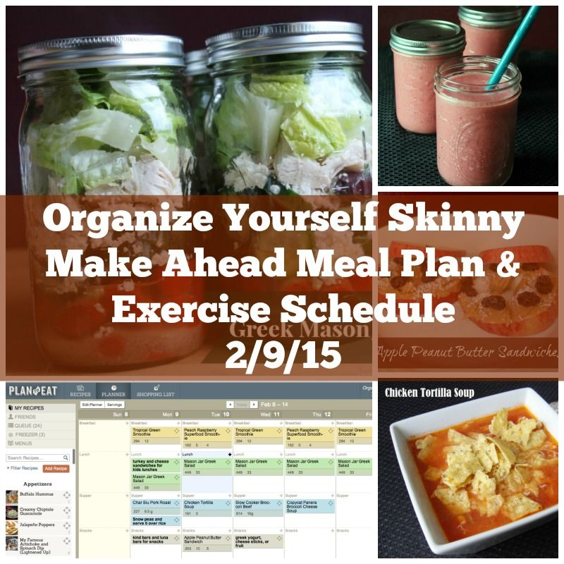 Make ahead meal plan and exercise schedule exercise schedule food forumfinder Gallery