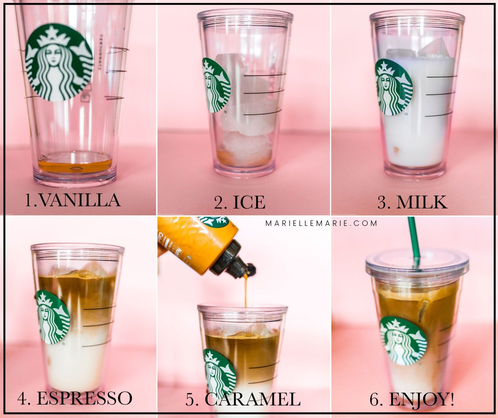 Copycat Starbucks Iced Caramel Macchiato