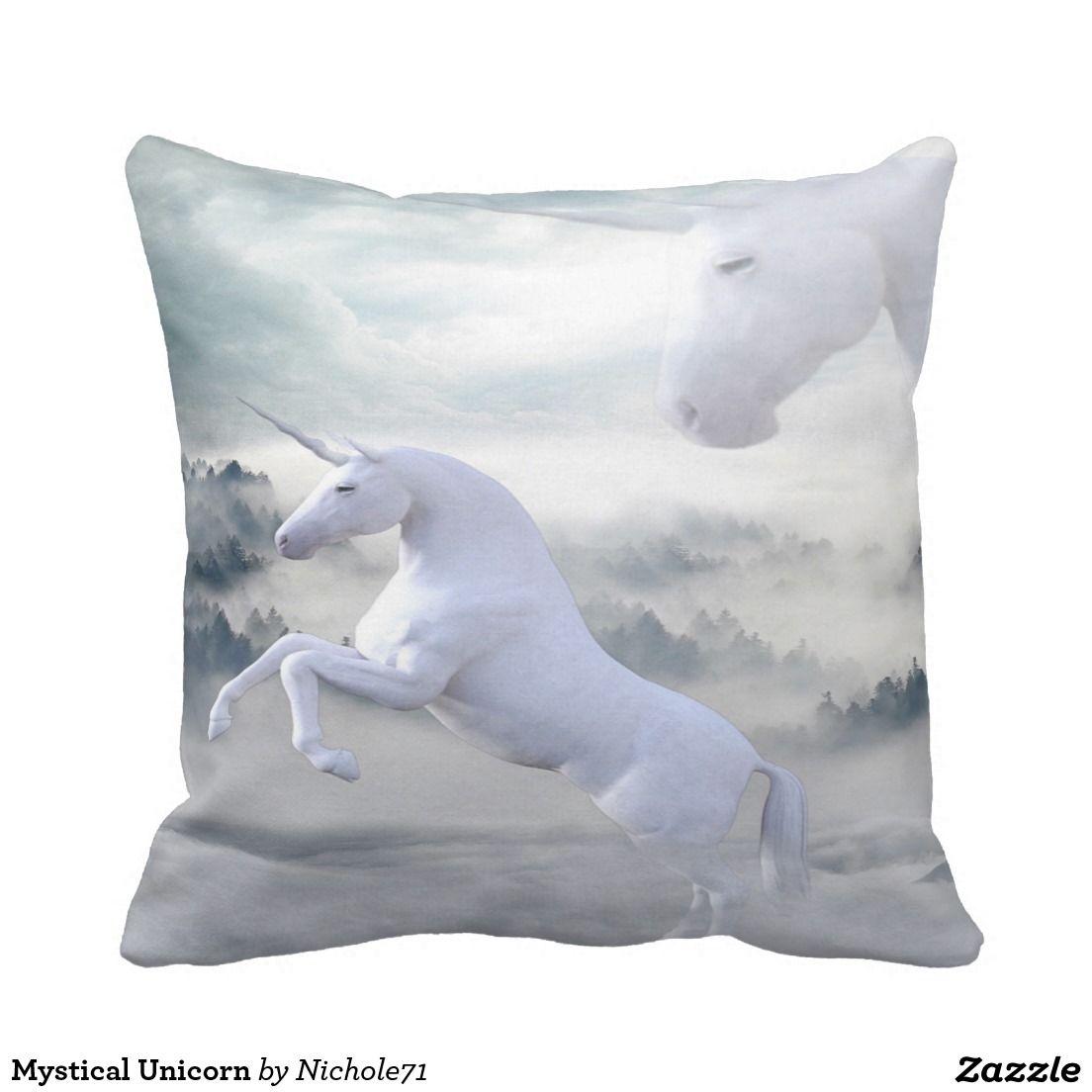 Mystical unicorn throw pillow unicorns throw pillows and pillows