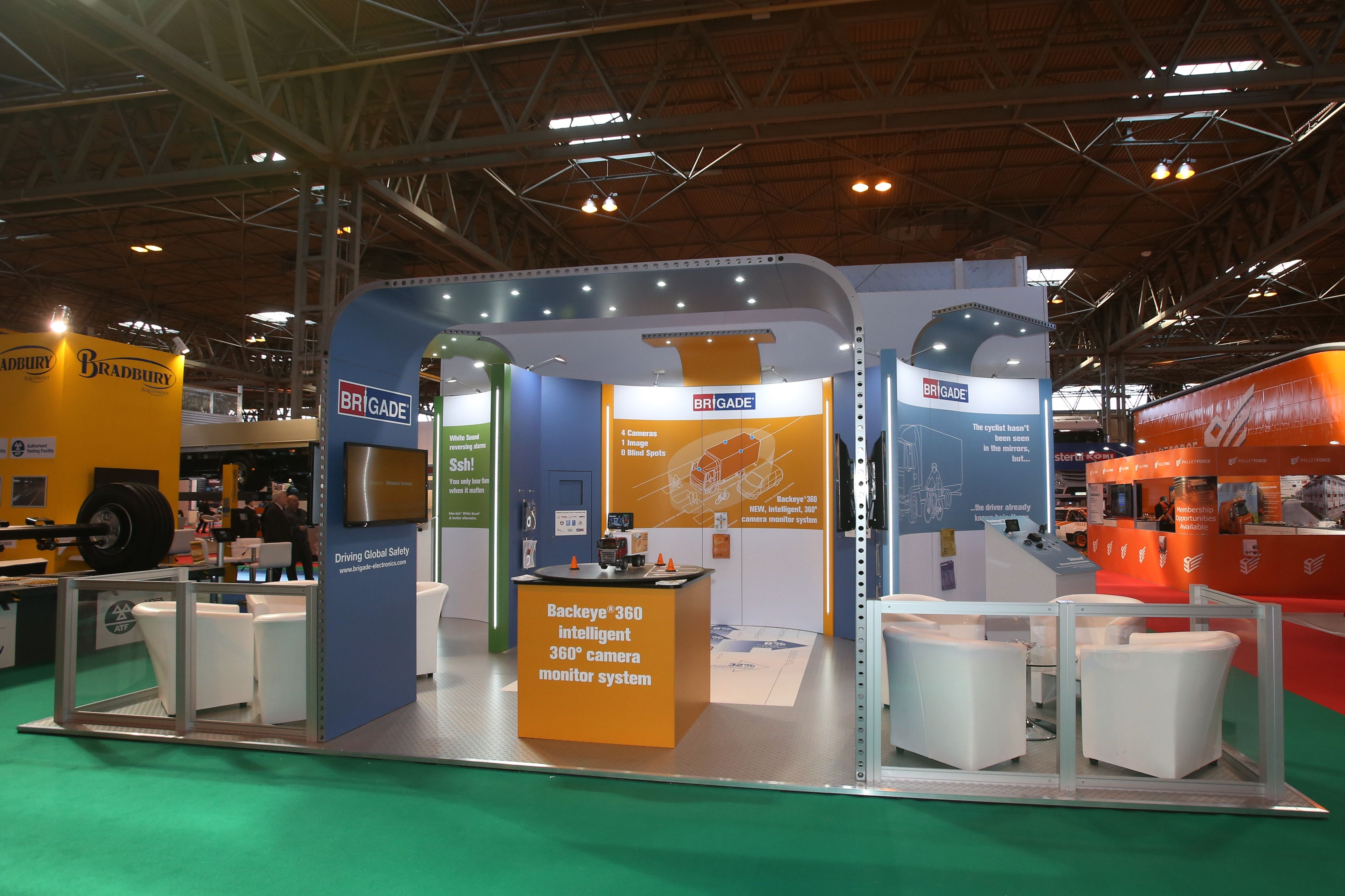 brigade electronics the cv show this stand showcases a brigade electronics the cv show 2015 this stand showcases a number of clips exhibition stand solutions including clip s le kit bematrix purpos