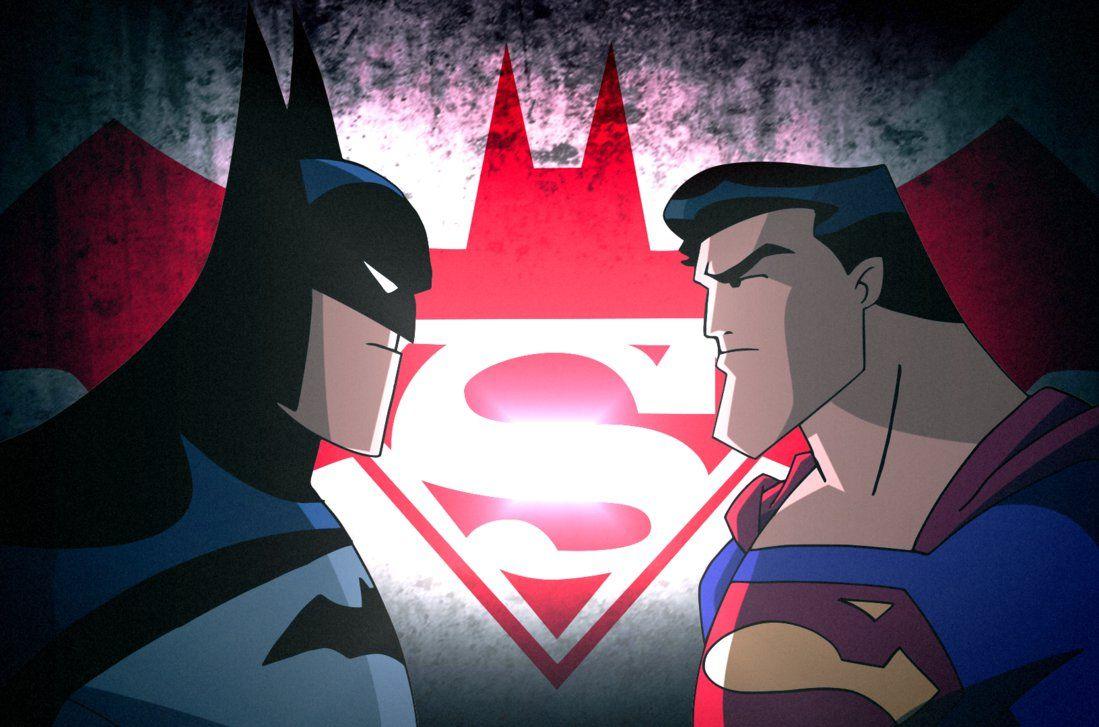 Batman V Superman Dcau Face Off By Https Jtsentertainment Deviantart Com On Devian Batman Comic Art Batman And Superman Batman V Superman Dawn Of Justice