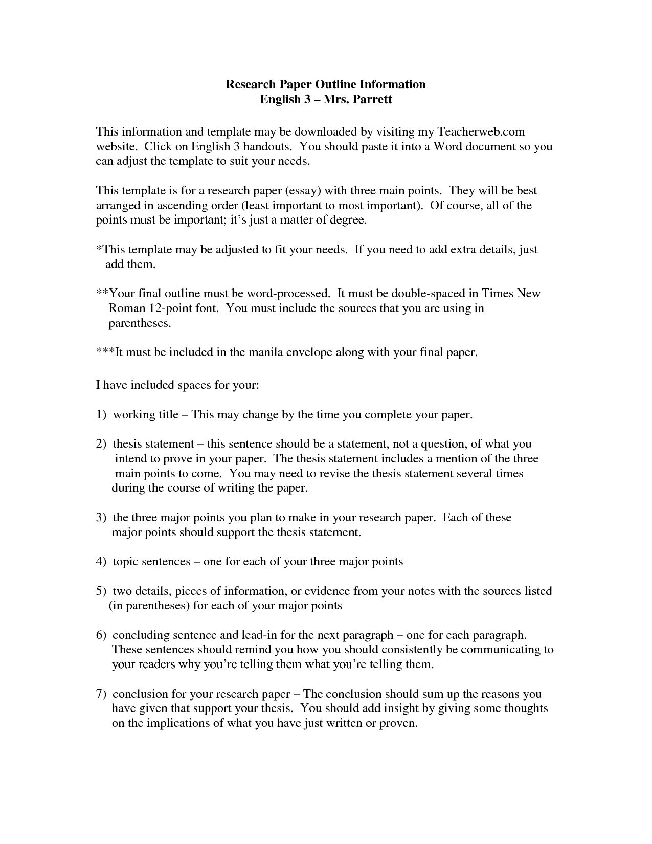The Breathtaking 019 Examples Of Thesis Statements For Researchs Template Pertaining To Apa Word Template 6 Thesis Statement Essay Outline Essay Outline Format