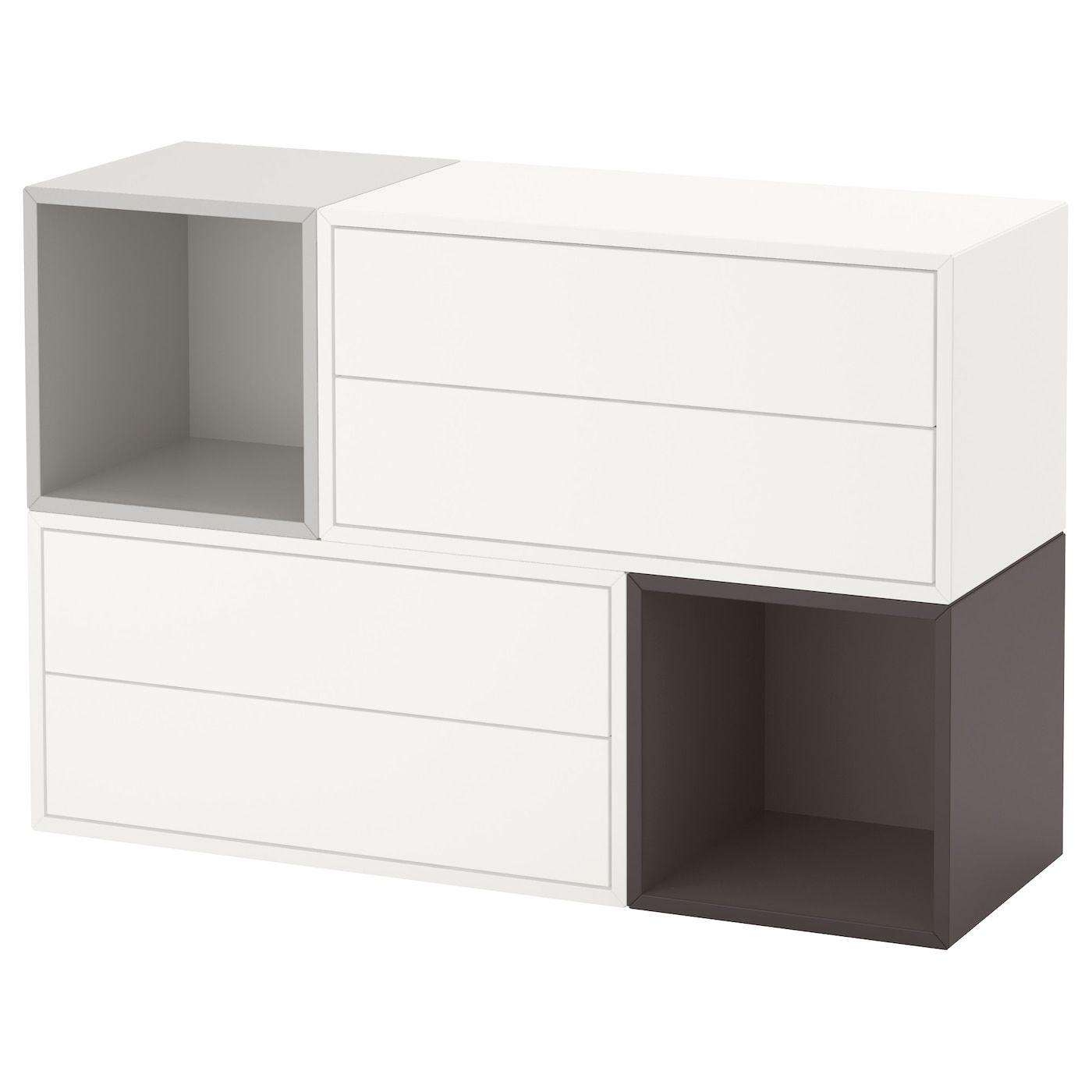 Eket Wall Mounted Cabinet Combination White Light Gray Dark Gray 41 3 8x13 3 4x27 1 2 Nel 2020 Mobili Ingresso Design Ikea Idee Ikea