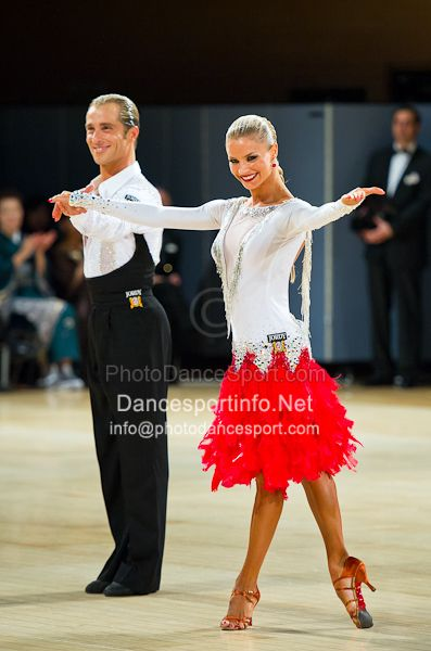 Red latin ballroom dresses
