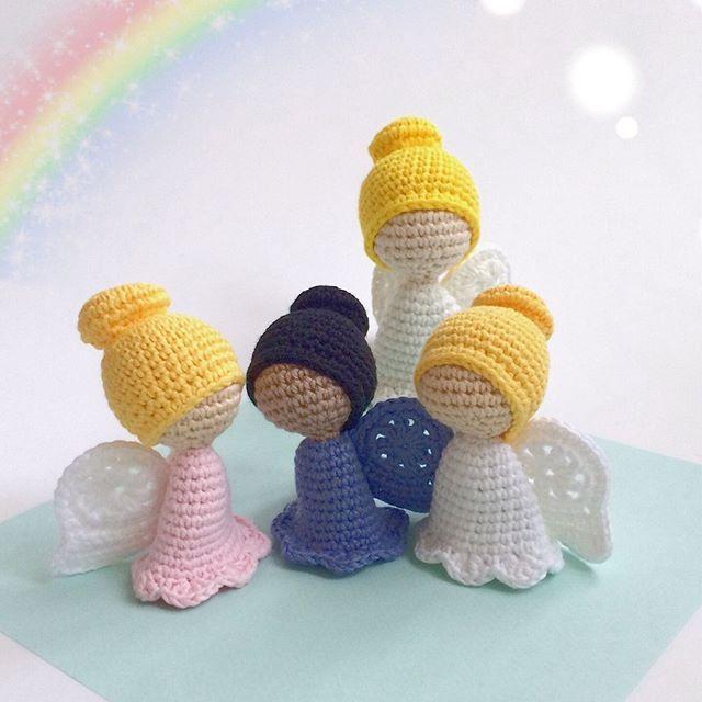 Free Crochet Pattern: Guardian Angel – Flauscheinhorn #crochettoysanddolls