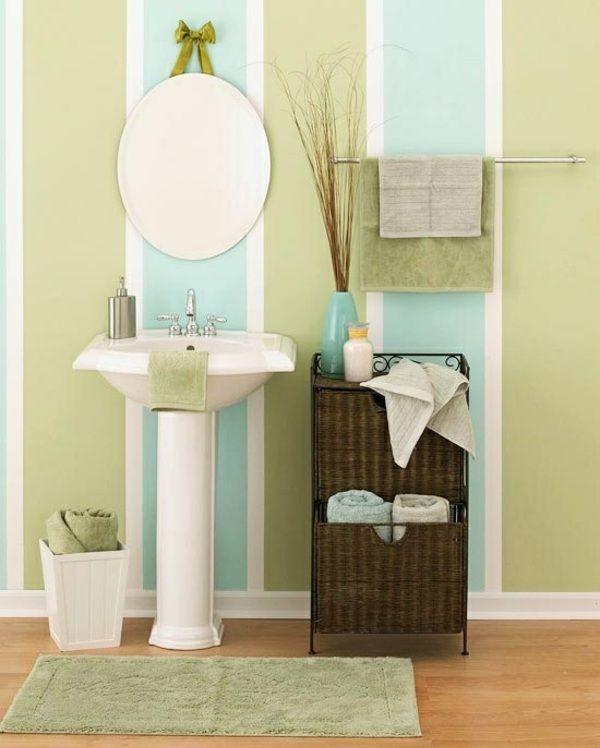 Badgestaltung Farben blau grün weiß Maritim Wände \/ Design - wohnzimmer grun weis