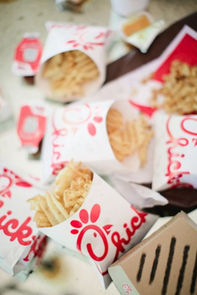 Chick Fil A At The Wedding Reception