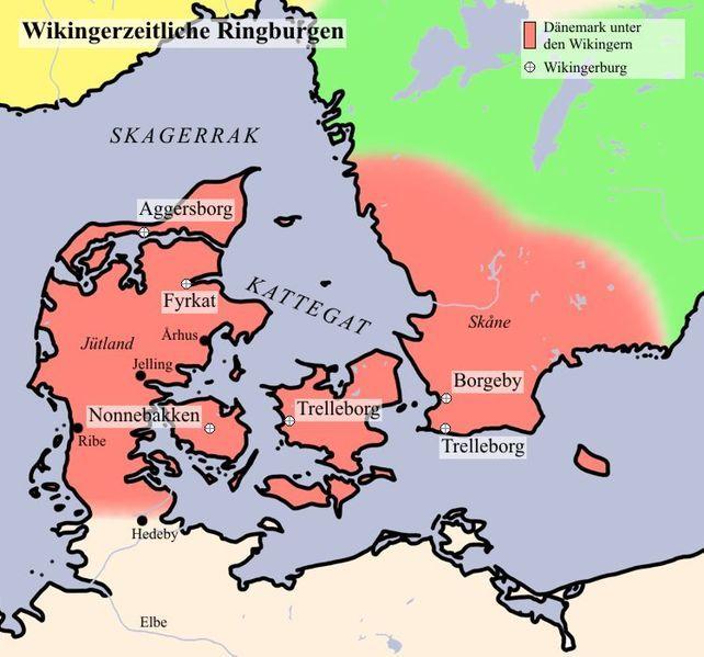 File Wikingerburgen Jpg Sites Of Six Of The Viking Ringcastles