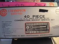 40 PIECE SOCKET WRENCH SET BRAND NEW BY CHAMPION