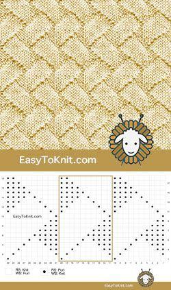 25+ › Вязание: Узоры спицами #knittingpatterns