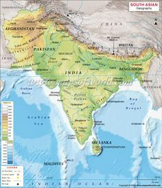 South asia geography map geo south asia pinterest geography south asia geography map gumiabroncs Images