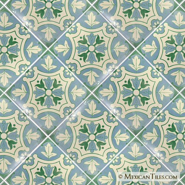 Mexican Tile 12x12 Salermo 2 Terra Nova Floor Tile Tile Floor Tiles Painting Tile Floors