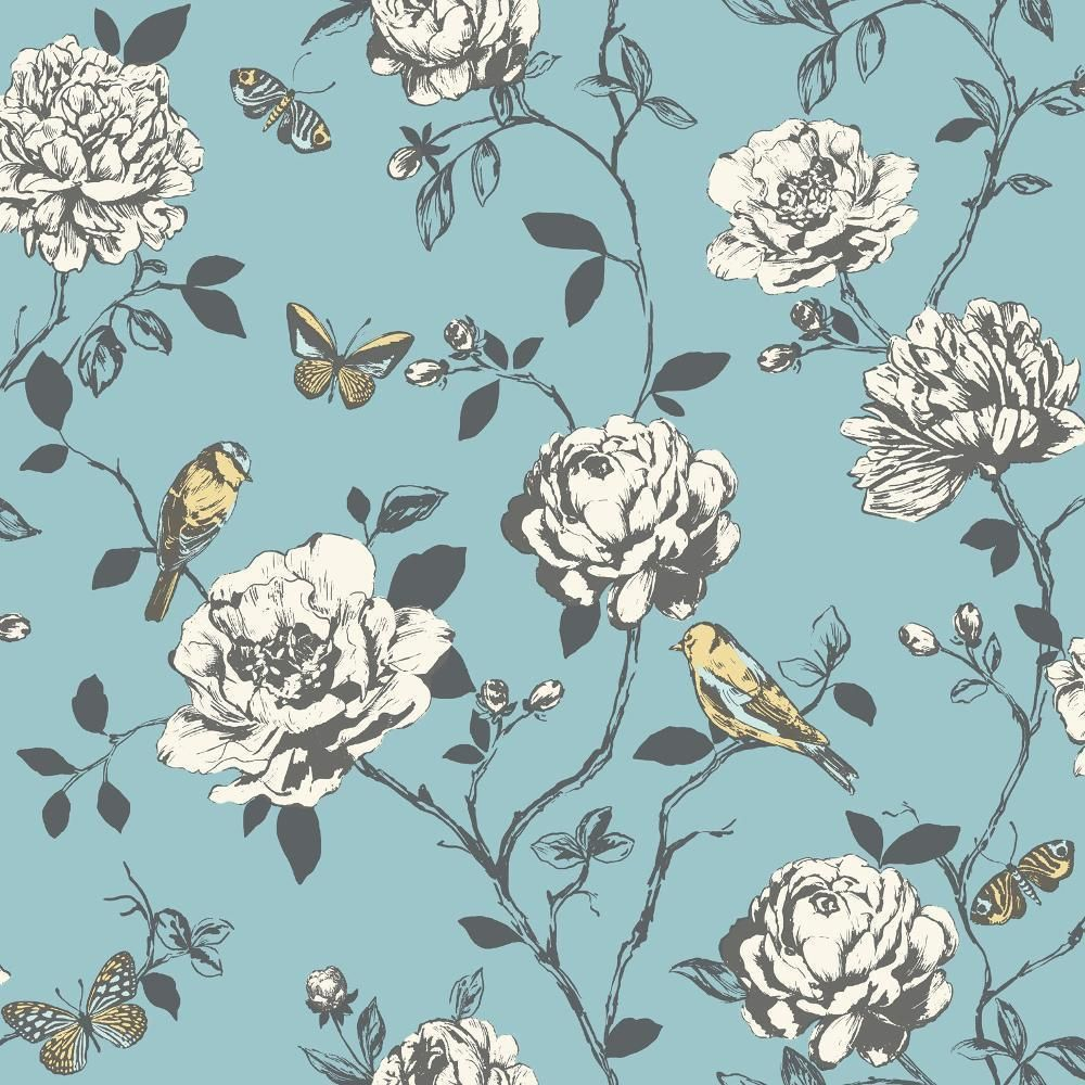 Rasch apples vinyl kitchen wallpaper 824506 cream cut price - New Rasch Amour Flower Bird Butterfly Floral Pattern Silver Glitter Wallpaper