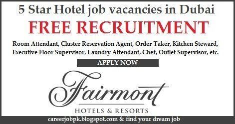 5 Star Hotel Job Vacancies In Dubai 2017