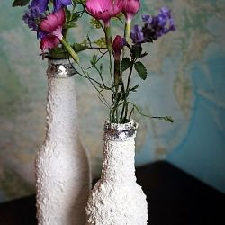 Make gorgeous vases from your old bottles. DIY fun and easy to make.
