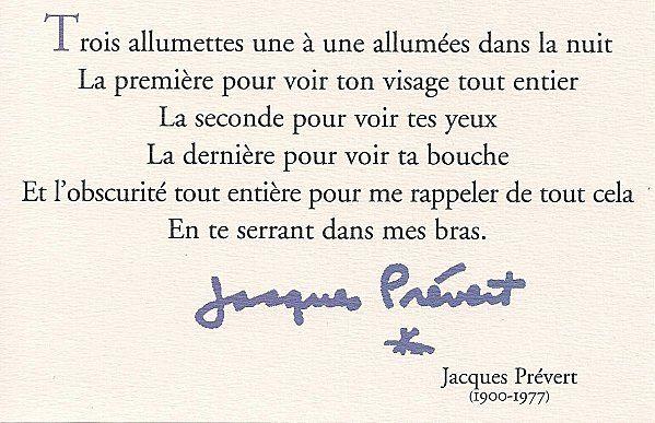 Trois Allumettes Jacques Prévert Citations Sur Les Mots
