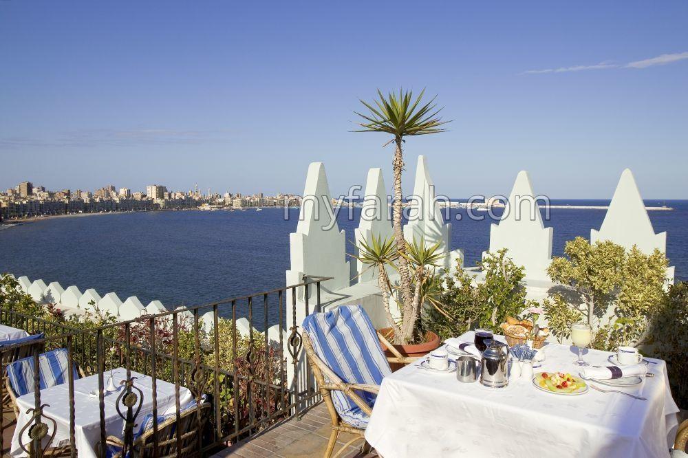 Sofitel Cecil Alexandria - outdoor wedding venue