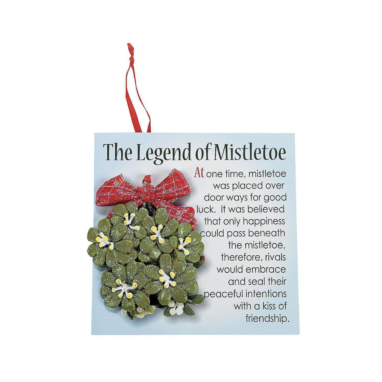 Mistletoe Christmas Ornaments With Card  Orientaltrading