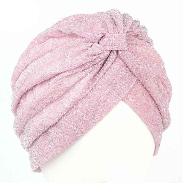 Bling Women Knot Twist Turban Headband Cap Autumn Winter Warm Casual Indian Hats