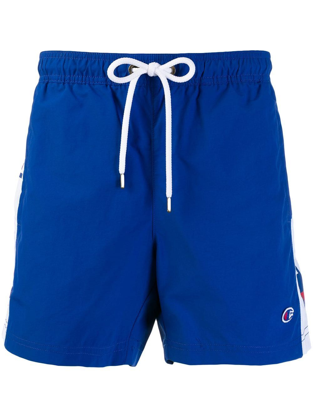 3a4197ae90 CHAMPION CHAMPION LOGO STRIPE SWIM SHORTS - BLUE. #champion #cloth ...