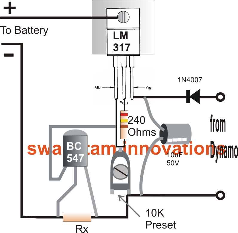 bicycle dynamo battery charger circuit