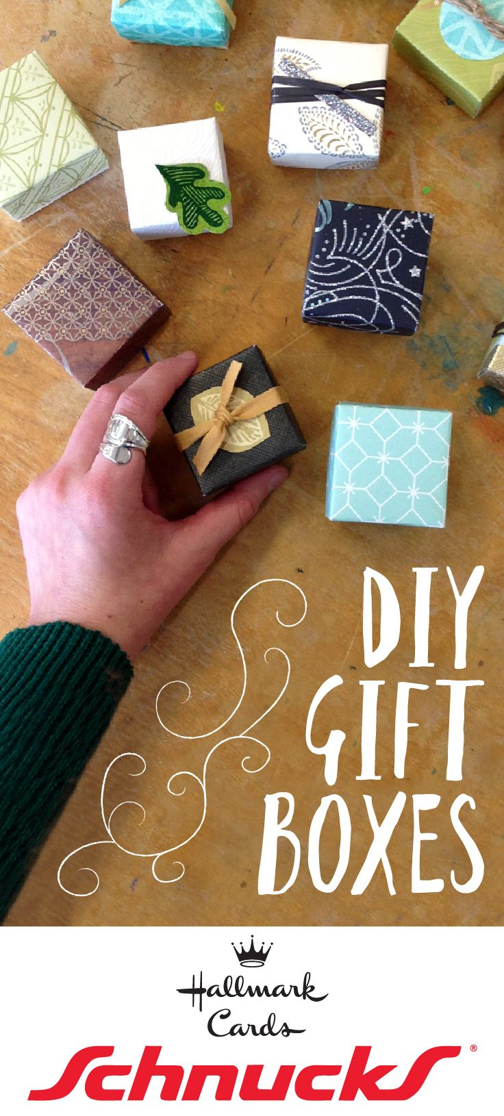Learn To Make Tiny Gift Boxes Out Of Last Years Greeting Cards