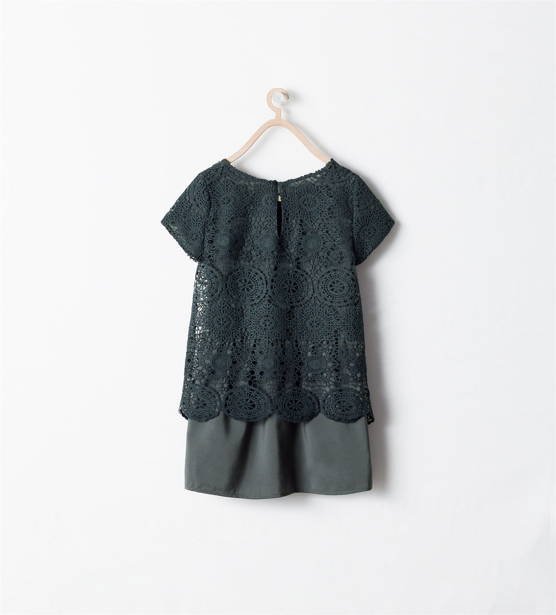 Image 3 de Robe avec jupe combinée de Zara