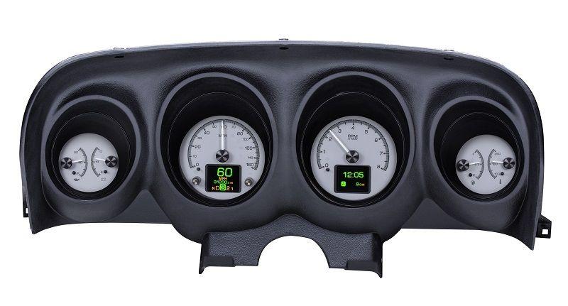Dakota Digital 1969 70 Ford Mustang Customizable Analog Gauge System Hdx 69f Mus Red Warning Light Digital Instruments Gauge Kit
