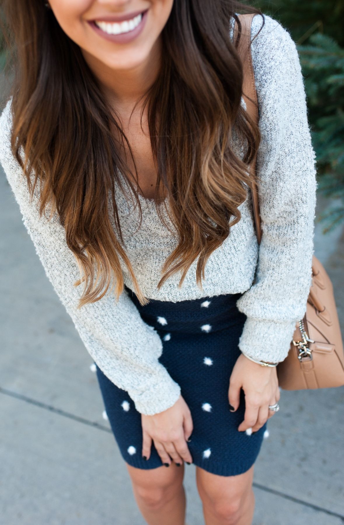 Festive Look | Skirt Sweater Combo | Thanksgiving Outfit | Friendsgiving Outfit