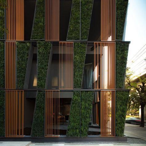 Vertical living gallery architecture pinterest - Fachadas edificios modernos ...