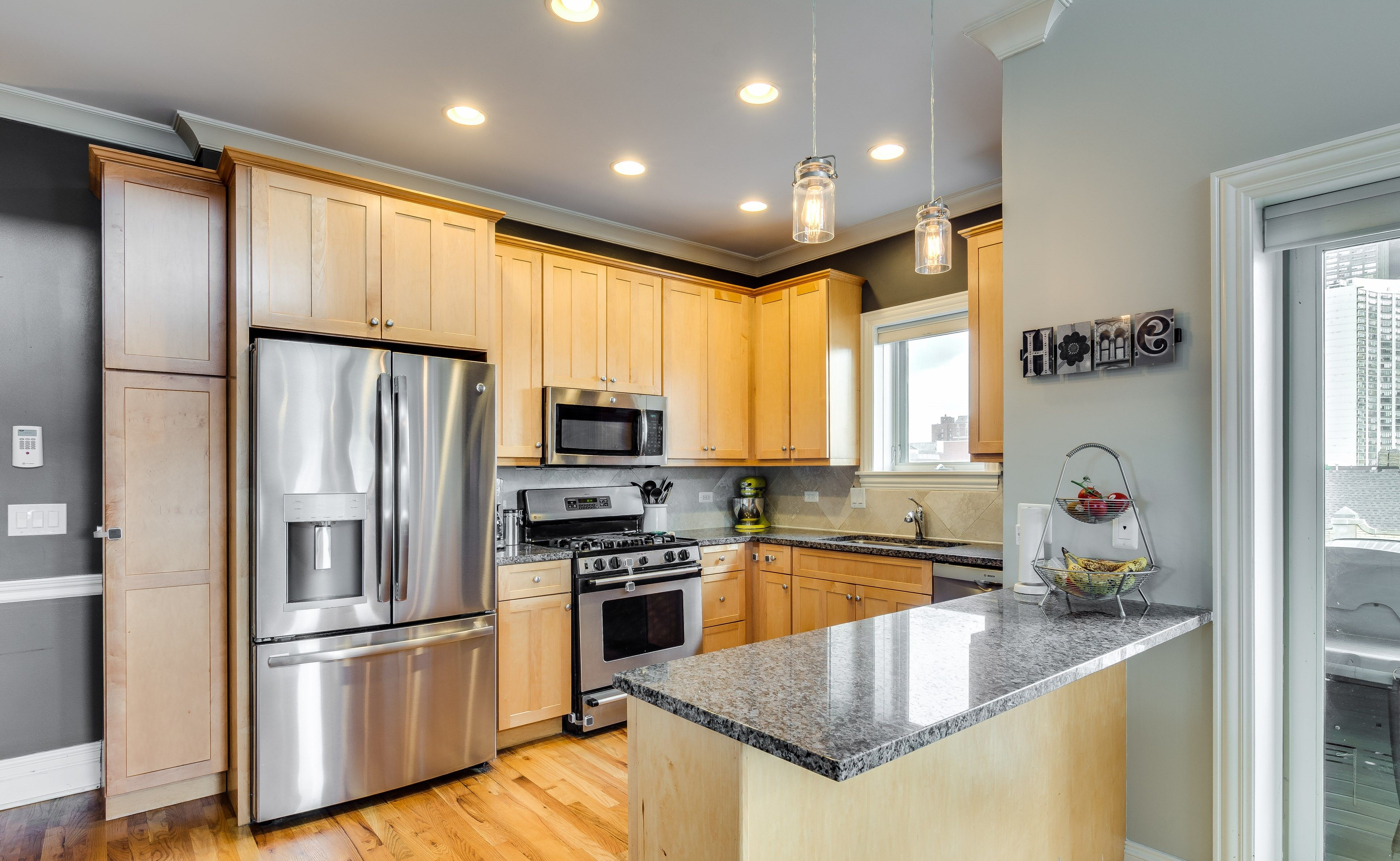 Kitchen With Stainless Steel Liances