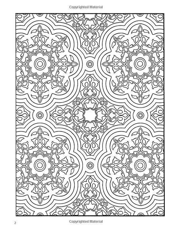 Paisley Designs Coloring Book | : Decorative Tile Designs Coloring ...