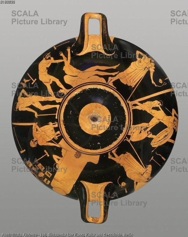 Foundry Painter 5th Cent Bce Attic Kylix With Scenes