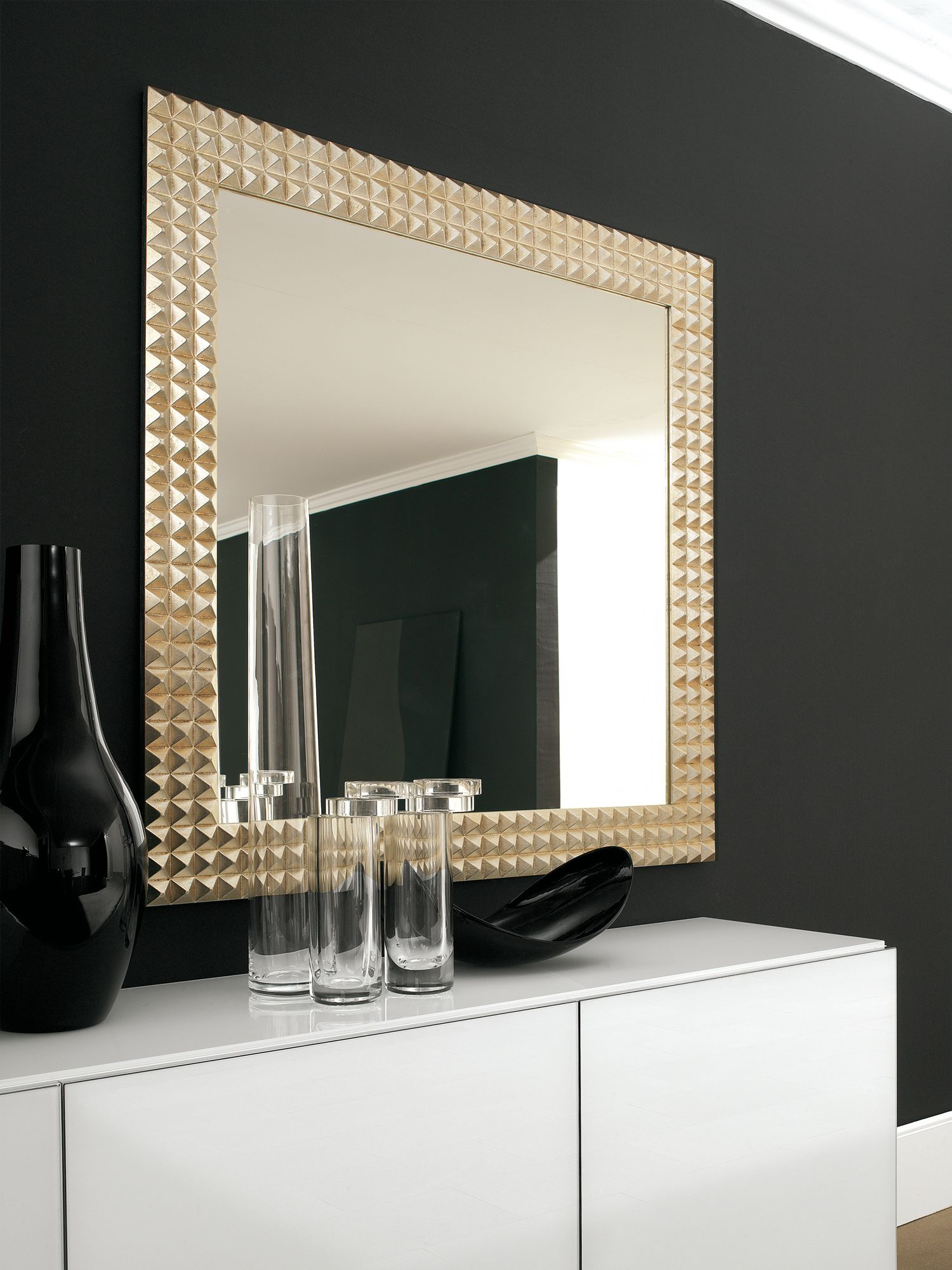 the egypt is a stunning wall mirror with a gold or silver foil covered wood frame