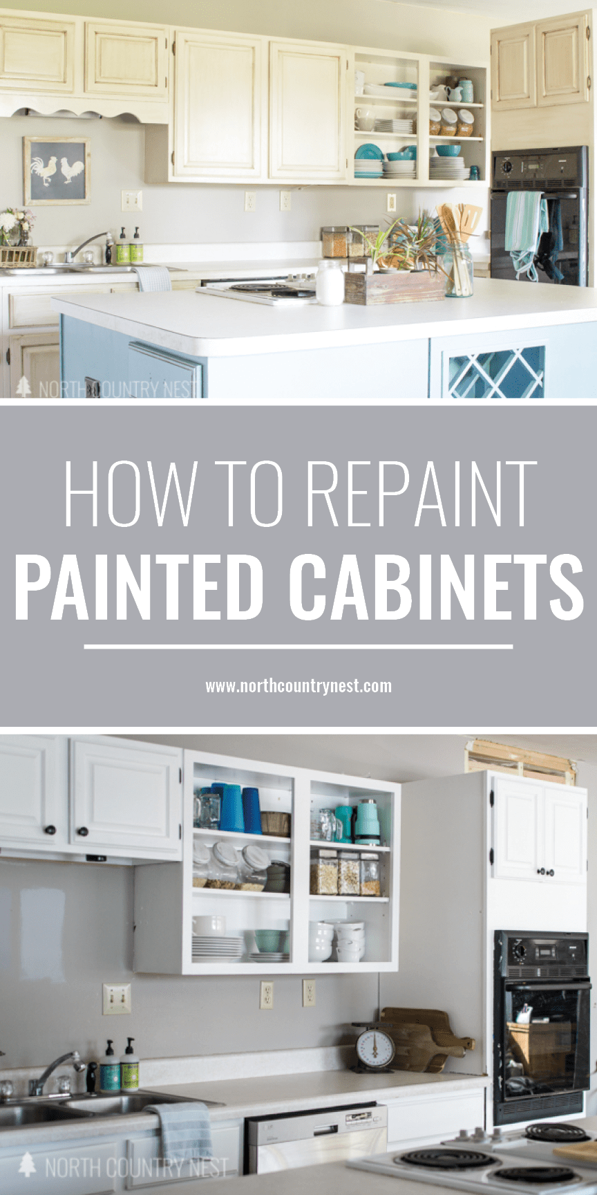 How to Repaint Painted Cabinets | Crafts & DIY Projects | Pinterest ...