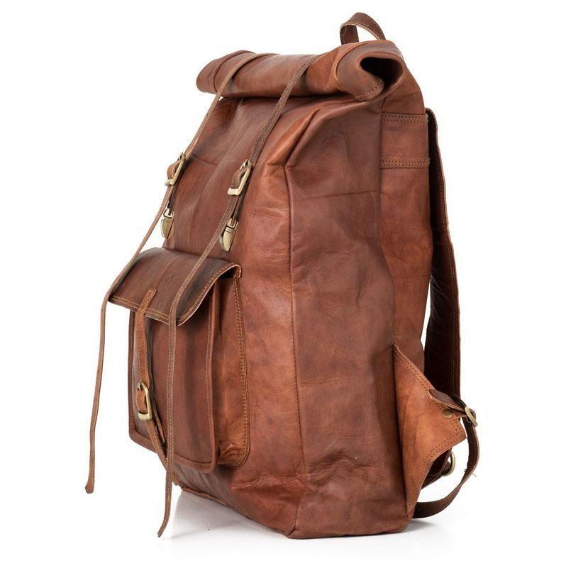 Rucksack Berliner Bags Leeds Xl Roll Top Aus Leder Kurierrucksack