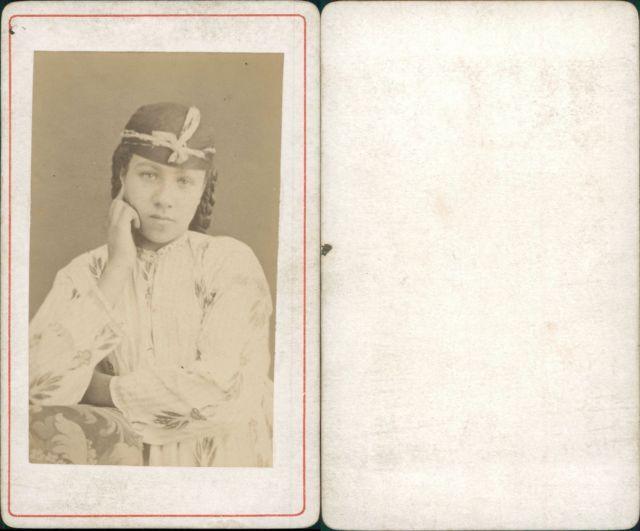 Algerie Femme Arabe Vintage CDV Albumen Carte De Visite Tirage Albumine