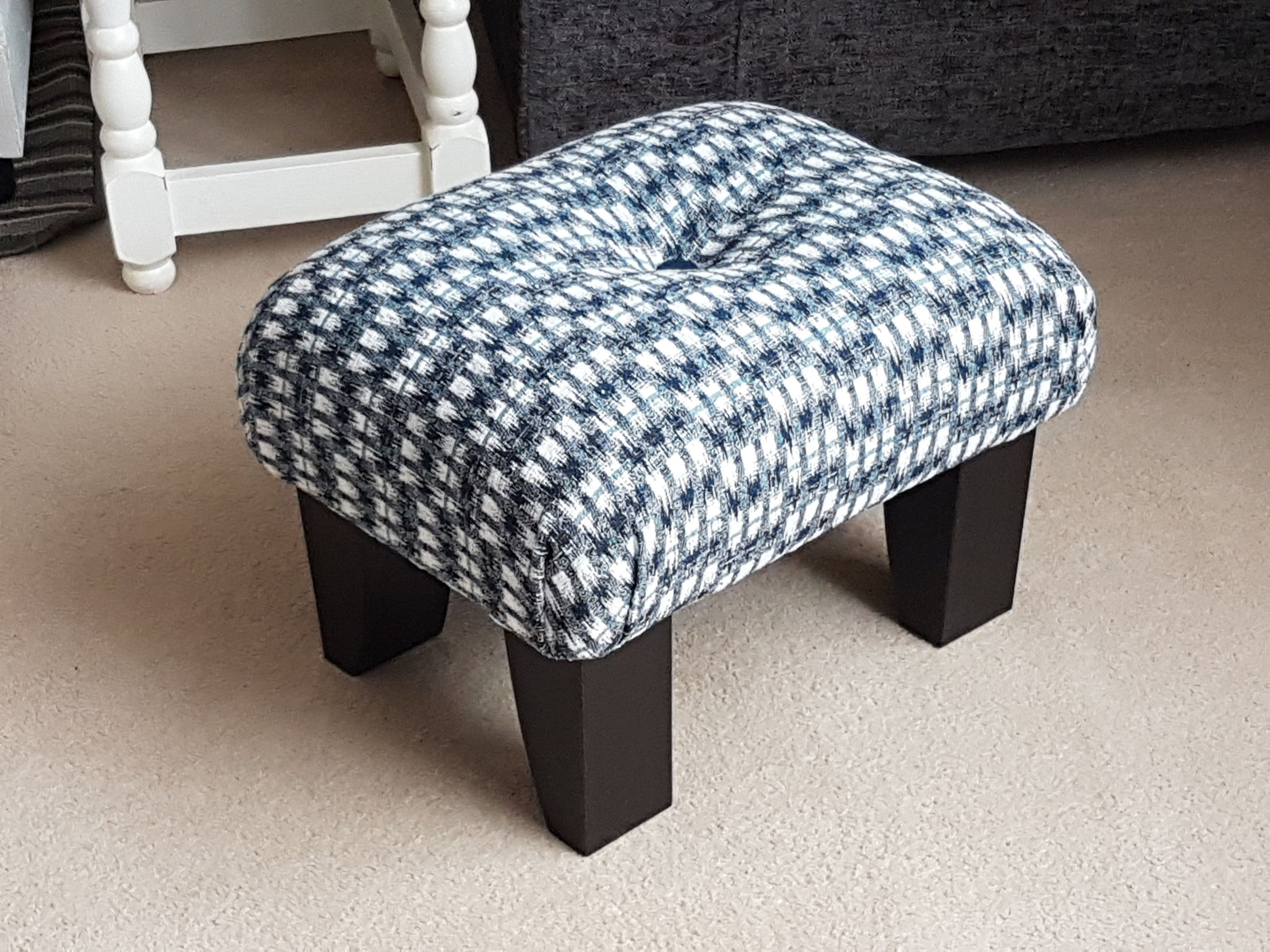 Your Place To Buy And Sell All Things Handmade Small Footstool Upholstered Footstool Upholstered Stool