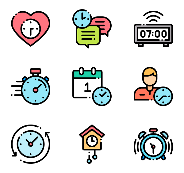 50 Free Vector Icons Of Time Designed By Freepik Time Icon Print Stickers Business Icon