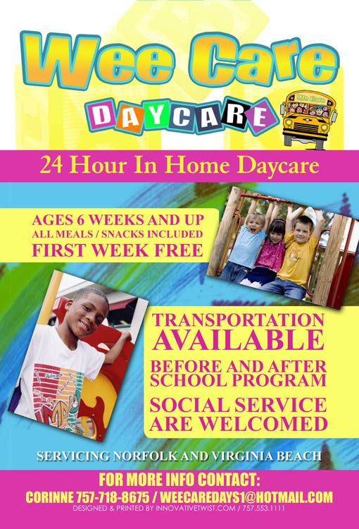 Wee Care Daycare Champagne Daycare Pinterest Preschool - daycare flyer template