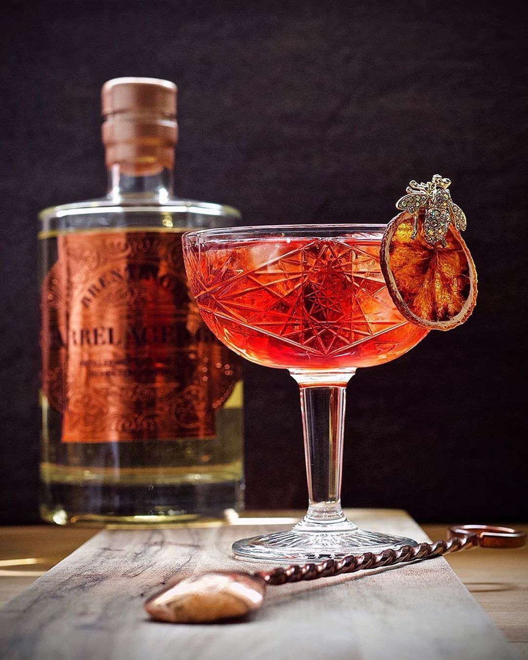A Beautiful Creation Thought We Would Share With You Thecocktail Blog No Party Without Gin Or Vermouth Bitters Wine Beer Liqueur Clear Ice Blogge