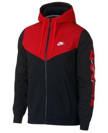 Nike Blue Air Logo Zip Hoodie Navy for men